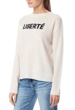 Liberte Crew Neck Cashmere Sweater - Chalk