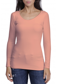 Zaza Double Fronted Scoop Neck Top - Rose Pink