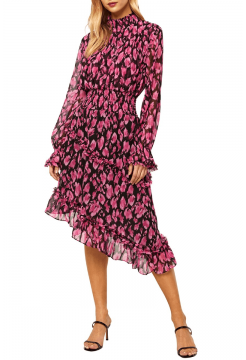 Lupita Dress - Isadora Leopard Pink