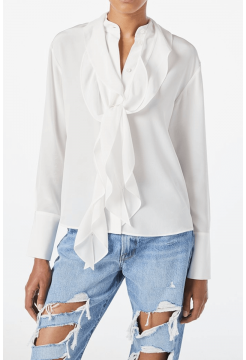 Margarette Silk Blouse - Off White