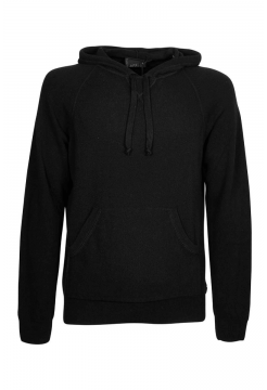 Knitted Hoody - Black