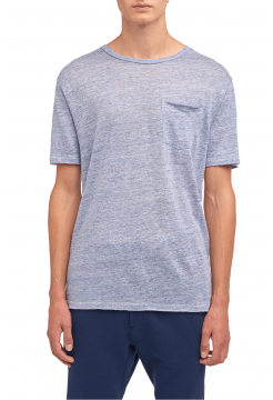 Owen Linen T-Shirt - Blue