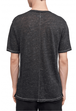 Owen Linen T-Shirt - Black