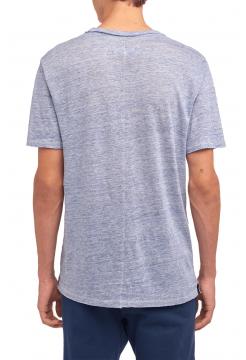 Owen Linen T-Shirt - Blue
