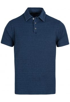 Knitted Jersey Polo Shirt - Indigo