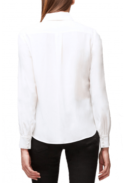 Pussy Bow Silk Blouse - Off White
