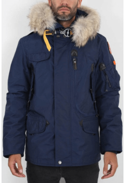 RIGHT HAND MAN NYLON JACKET - CADET BLUE