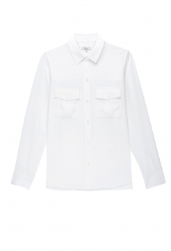Rhett Long Silk Shirt - Ivory