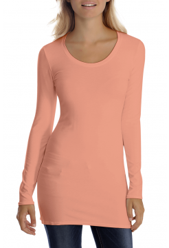 Sana Scoop Neck Long Sleeve Top - Rose Pink