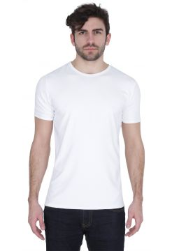 Short Sleeve Crew Neck T-Shirt - White