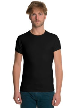 Short Sleeve Crew Neck T-Shirt - Black