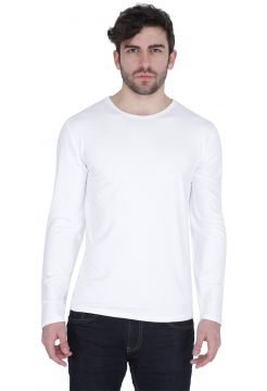 Long Sleeve Crew Neck T-Shirt - White