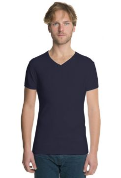 Short Sleeve V Neck T-Shirt - Navy