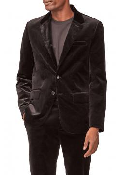 Velvet Classic Slim Fit Blazer - Black