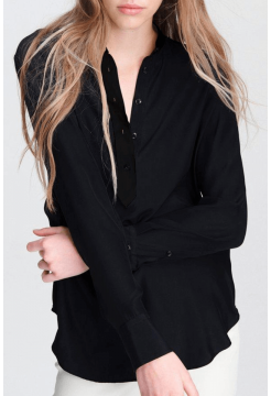 Scarlet Silk Blouse - Black