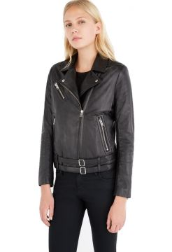 Jone Leather Jacket - Black